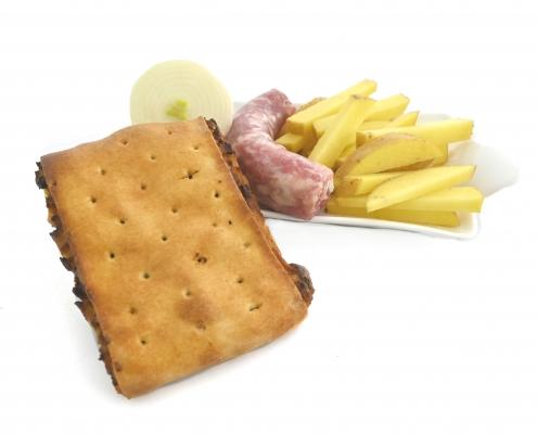 rustico patate e salsiccia