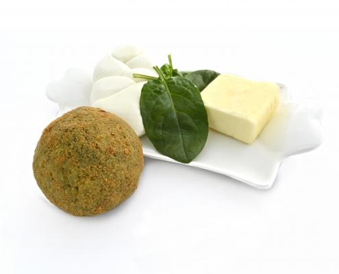 arancine spinaci e formaggio