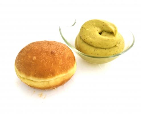 krapfen crema pistacchio